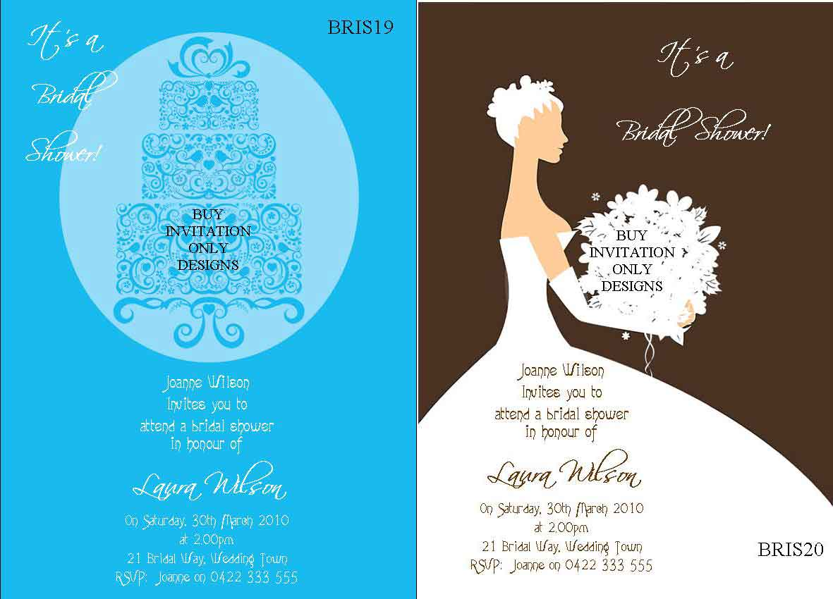 Bridal Shower & Kitchen Tea Wedding Shower Invitations
