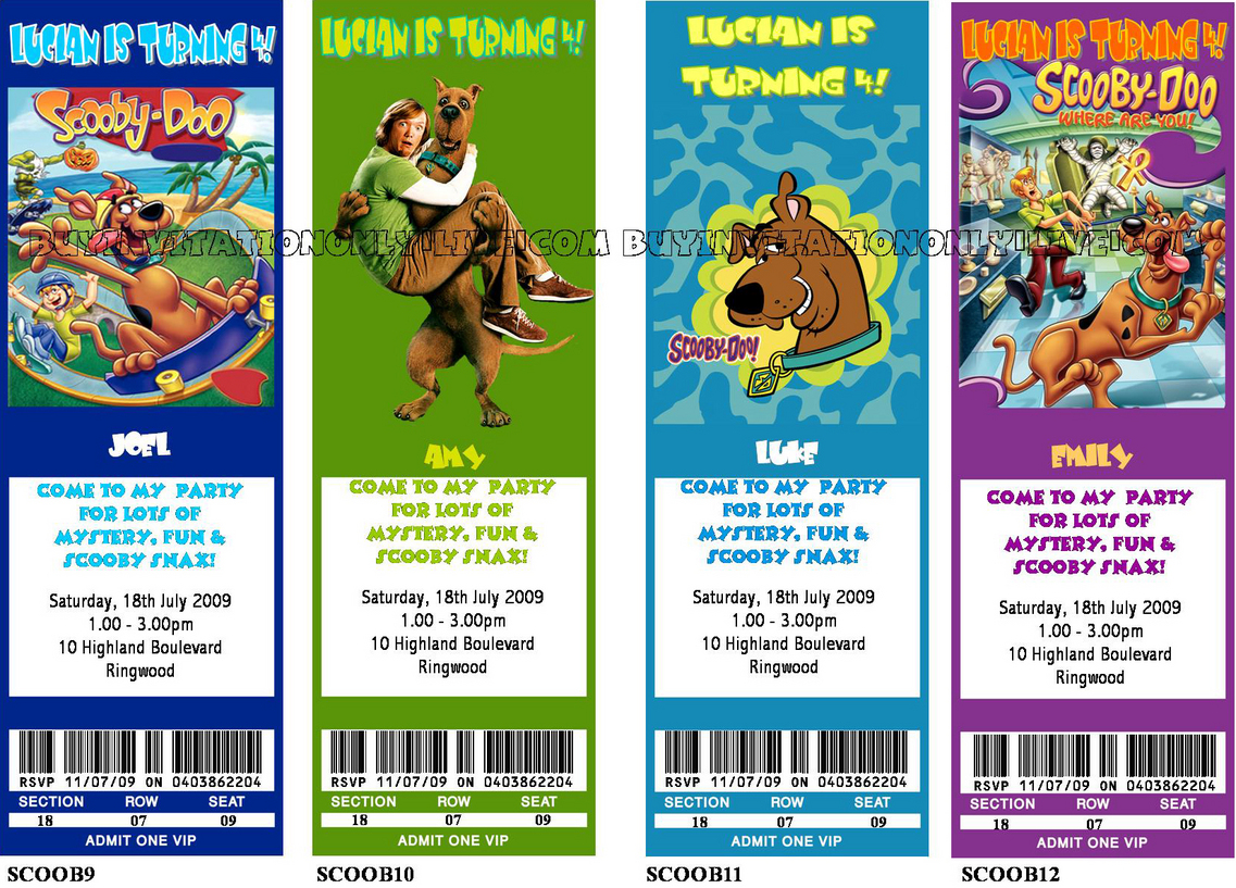 Scooby Doo Party Invitations – Scooby Doo Party Invitations