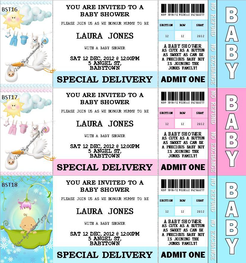 Baby Shower Personalised Invitations & Party Favours