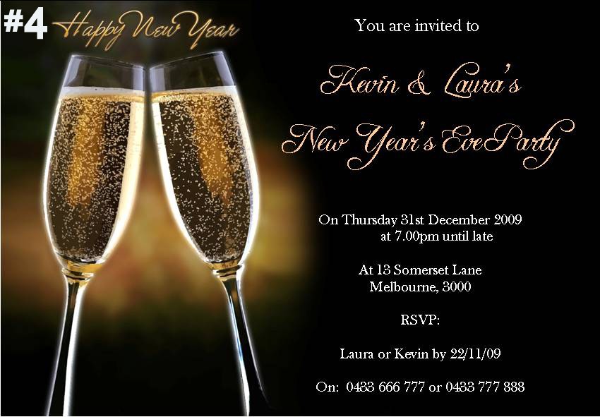 New Years Eve Party Invitations | futureclim.info